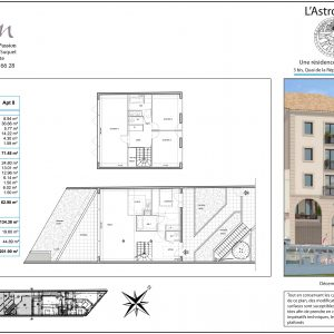 Plan appartement sete astrolabe t5